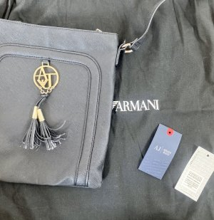 Armani Jeans Crossbody bag black-gold-colored leather