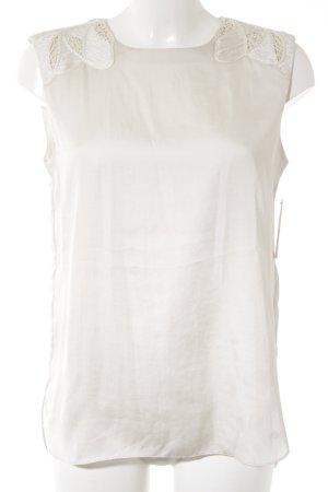 Armani Jeans ärmellose Bluse creme Elegant