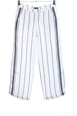 Armani Jeans Baggy Pants white-black striped pattern business style