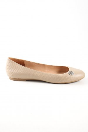 Armani Jeans Ballerinas with Toecap nude allover print business style