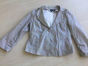 Armani Jeans Korte blazer zwart-wit