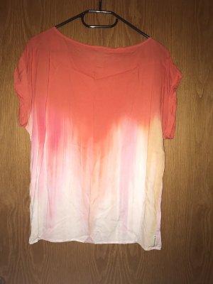 Armani Jeans Bluse ( Gr. L, orange-weiß-rosa)
