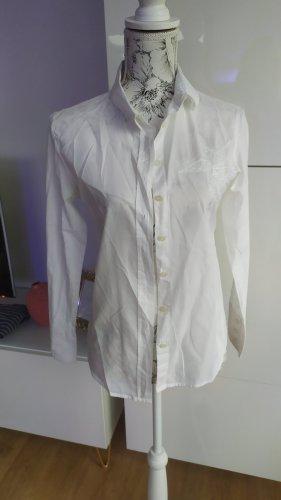 Armani Jeans Bluse Hemd Gr. 38 weiß Ganz dünner Stoff