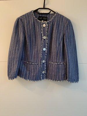 Armani Jeans Tweed Blazer blue-white