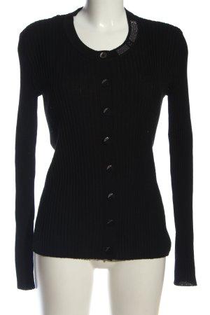 Armani Jeans Cardigan noir torsades style décontracté