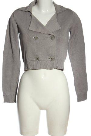 Armani Jeans Cardigan gris clair torsades style décontracté