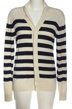 Armani Jeans Cardigan crème-noir motif rayé style décontracté