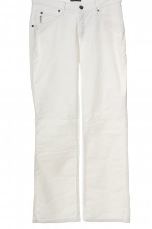 Armani Jeans Pantalon en velours côtelé blanc style décontracté