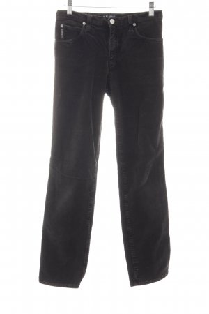 Armani Jeans Corduroy broek zwart casual uitstraling