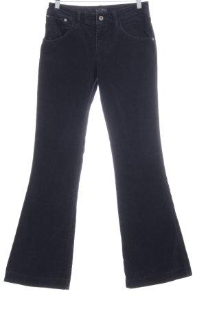 Armani Jeans Cordhose schwarz Casual-Look