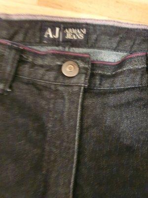 Armani Jeans Pantalon taille haute bleu foncé