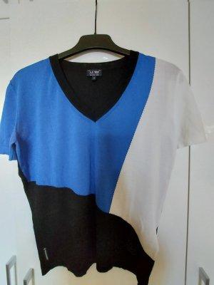 Armani Jeans T-shirt col en V multicolore polyester