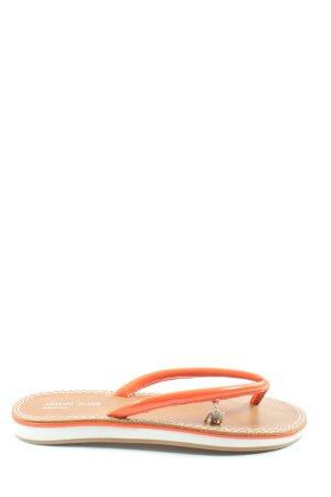 Armani Jeans Sandales Dianette orange clair-brun style décontracté