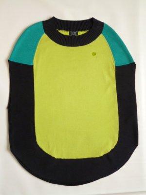 Armani Jeans Poncho en tricot multicolore coton