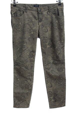 Armani Jeans Five-Pocket-Hose hellgrau-schwarz Allover-Druck Casual-Look