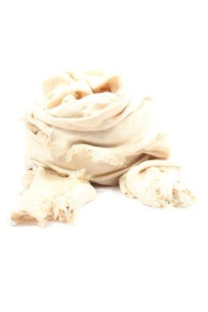 Armani Jeans Bufanda de flecos blanco puro look casual