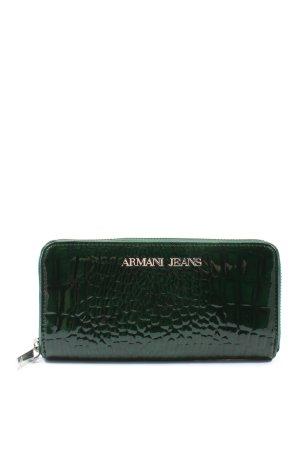 Armani Jeans Portemonnee groen dierenprint casual uitstraling