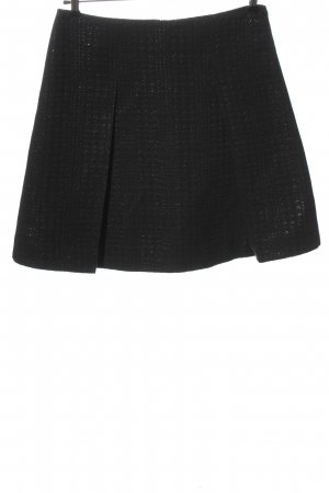 Armani Jeans Flared Skirt black allover print casual look