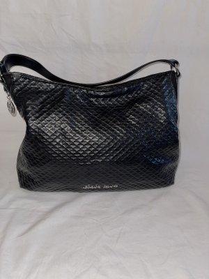 Armani Jeans Shoulder Bag black-silver-colored