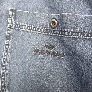 Armani Jeans Spijkershirt donkerblauw-zwart