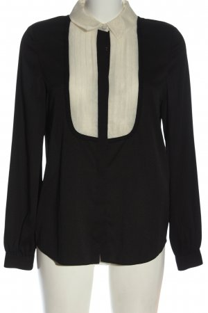 Armani Jeans Hemd-Bluse schwarz-weiß Casual-Look