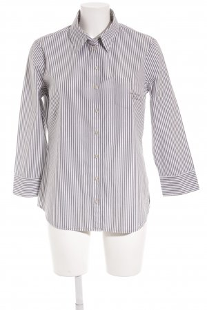 Armani Jeans Hemd-Bluse graublau-weiß Schriftzug gedruckt Casual-Look