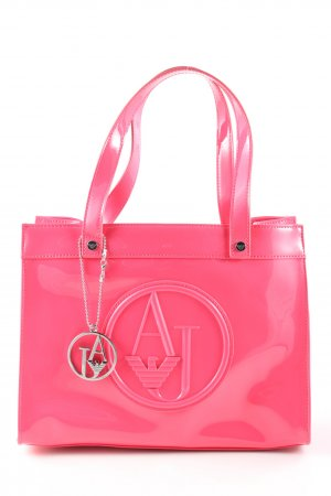 Armani Jeans Bolso barrel rosa estampado temático estilo «business»