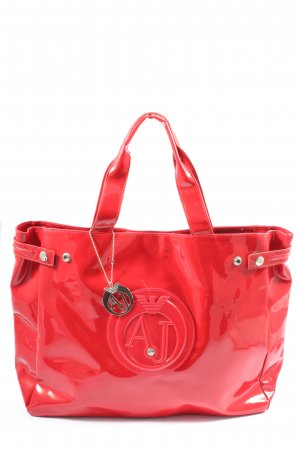 Armani Jeans Carry Bag red themed print casual look