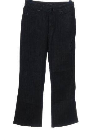 Armani Jeans Pantalon taille haute noir style décontracté