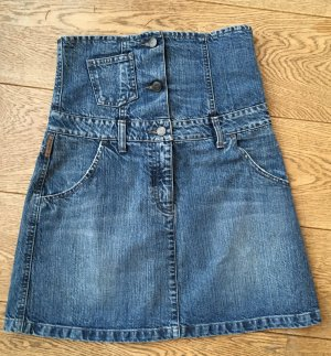 * ARMANI JEANS * HIGH WAISTED Mini Rock JEANS Denim Gr 36 It. 42