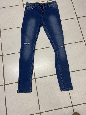 Armani Hoge taille jeans blauw