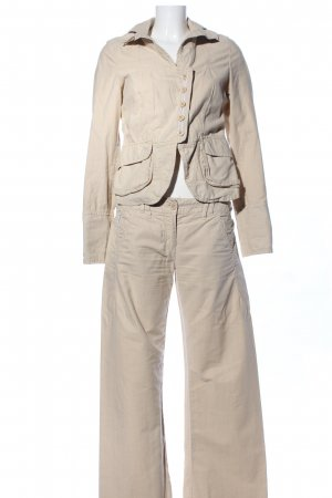 Armani Jeans Trouser Suit natural white casual look