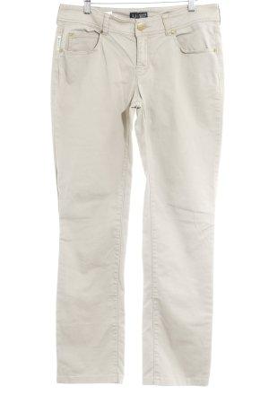 Armani Jeans Pantalone a vita bassa beige stile casual