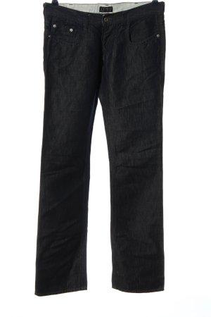 Armani Jeans Jeans taille basse noir style décontracté