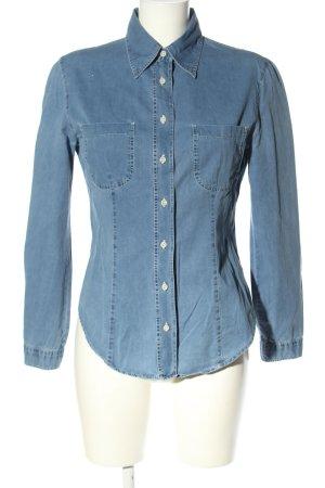 Armani Jeans Jeansowa koszula niebieski W stylu casual