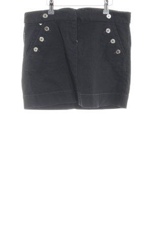 Armani Jeans Jeansrock schwarz Casual-Look