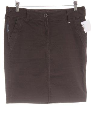 Armani Jeans Denim Skirt dark brown casual look