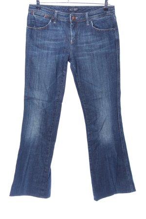 Armani Jeans Jeansschlaghose blau Casual-Look