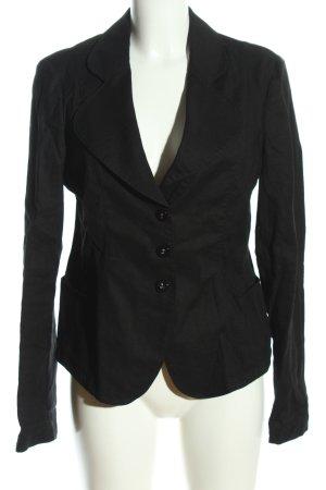 Armani Jeans Jerseyblazer schwarz Business-Look