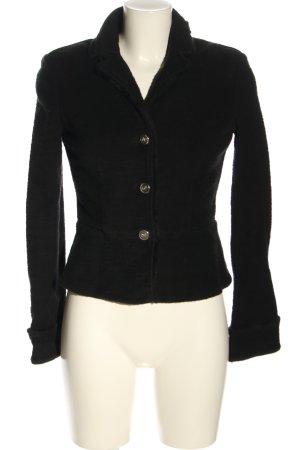 Armani Jeans Marynarka z dżerseju czarny W stylu casual