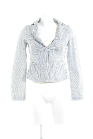 Armani Jeans Jerseyblazer weiß-schwarz Streifenmuster Casual-Look