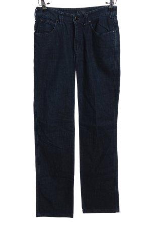 Armani Jeans Pantalón de pinza alto azul look casual