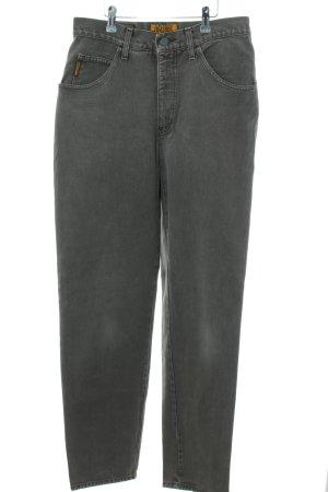 Armani Jeans Karottenjeans hellgrau Casual-Look