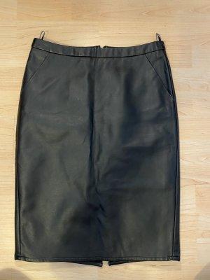Armani Jeans Jupe en cuir synthétique noir tissu mixte