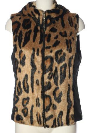 Armani Jeans Kamizelka ze sztucznym futrem brązowy-czarny Zwierzęcy wzór