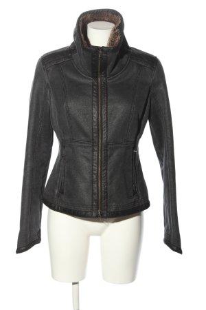 Armani Jeans Kunstlederjacke schwarz Casual-Look