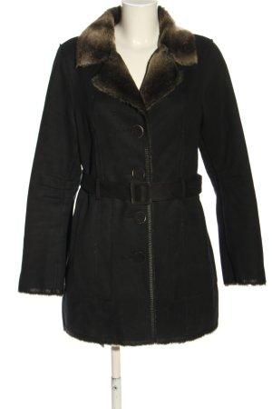 Armani Jeans Manteau en simili noir style décontracté