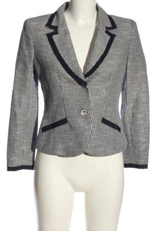Armani Jeans Kurz-Blazer schwarz-weiß Allover-Druck Business-Look