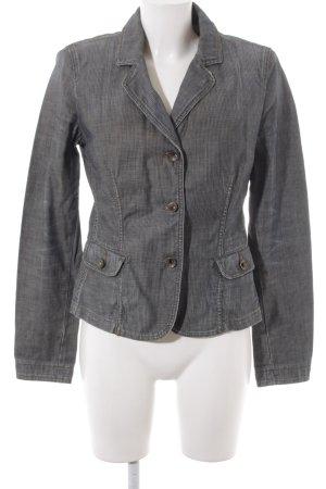 Armani Jeans Kurz-Blazer grau Glencheckmuster Business-Look