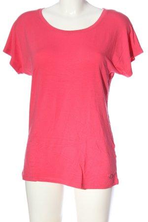 Armani Jeans Blouse à manches courtes rose motif de fleur style décontracté